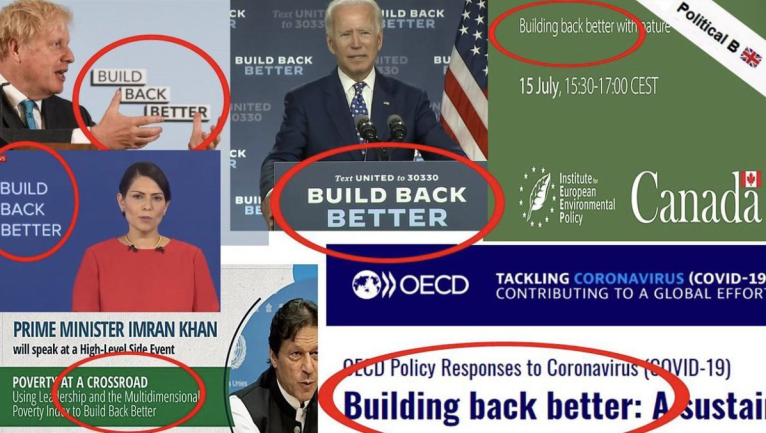 Build Back Better collage, Credit: Ian Jenkins